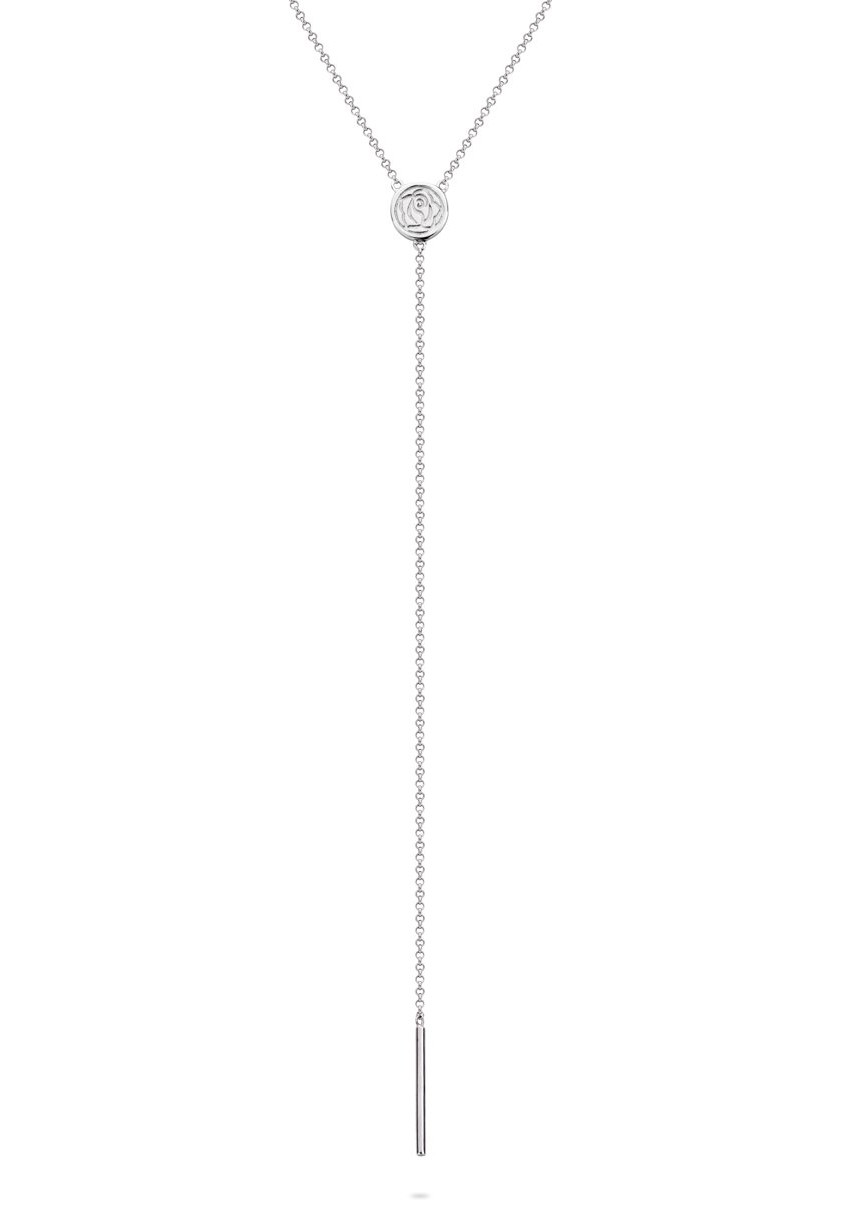 Rebel and Rose RR-NL011-S Ketting Stick to Yourself zilver 45 cm