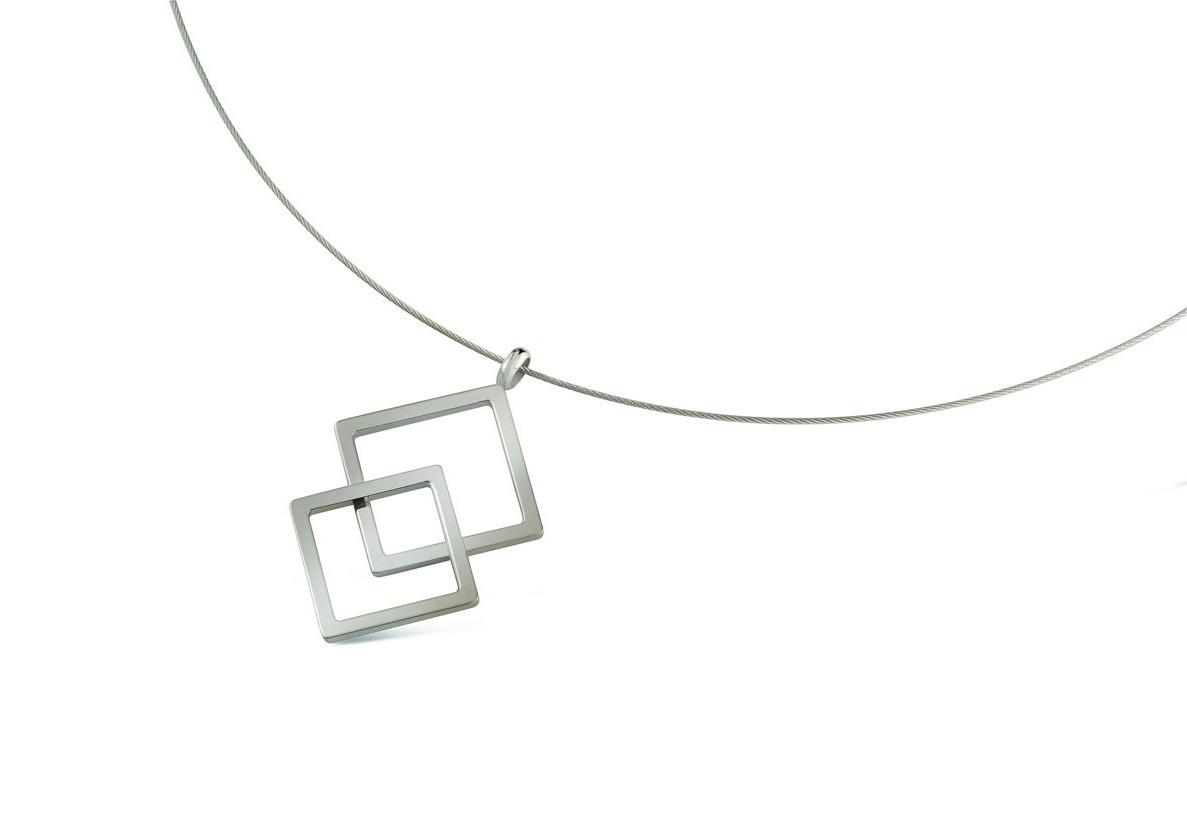 Boccia Figura Hanger titanium zilverkleurig 07020-01