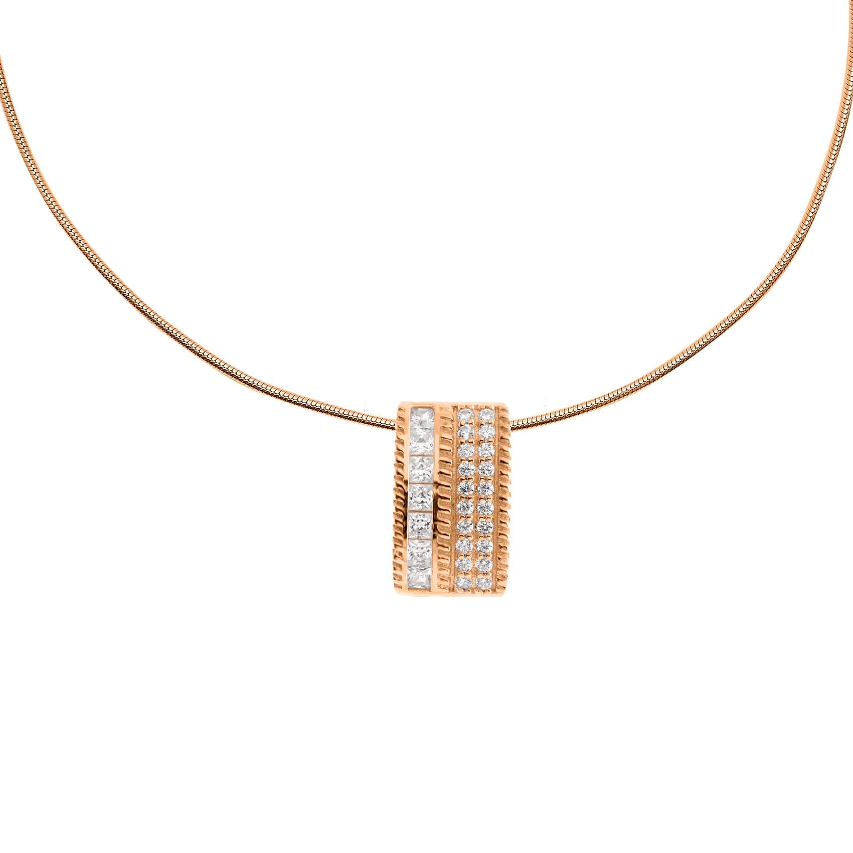 Zilveren Collier met Hanger Rosé-goud plated 803.0367.45