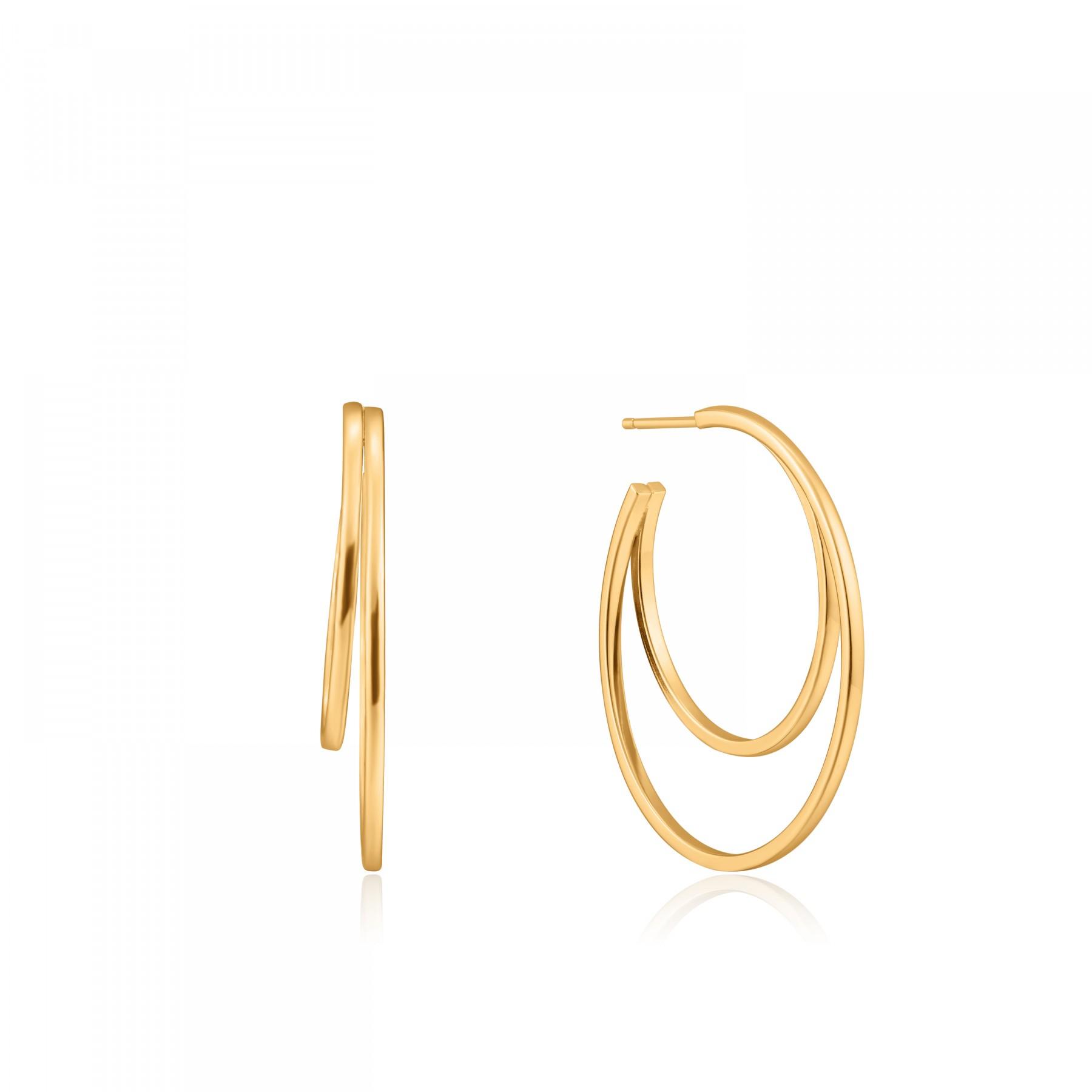 Ania Haie E023-10G oorbellen Zilver Goudkleurig