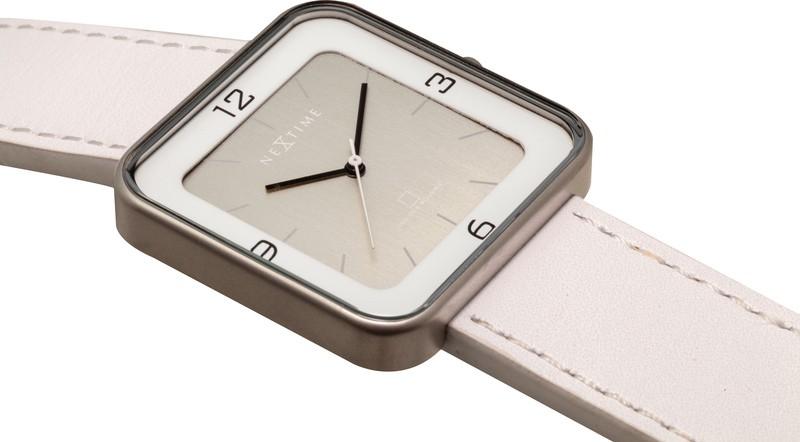 Horloge NeXtime Square Wrist wit/zilver