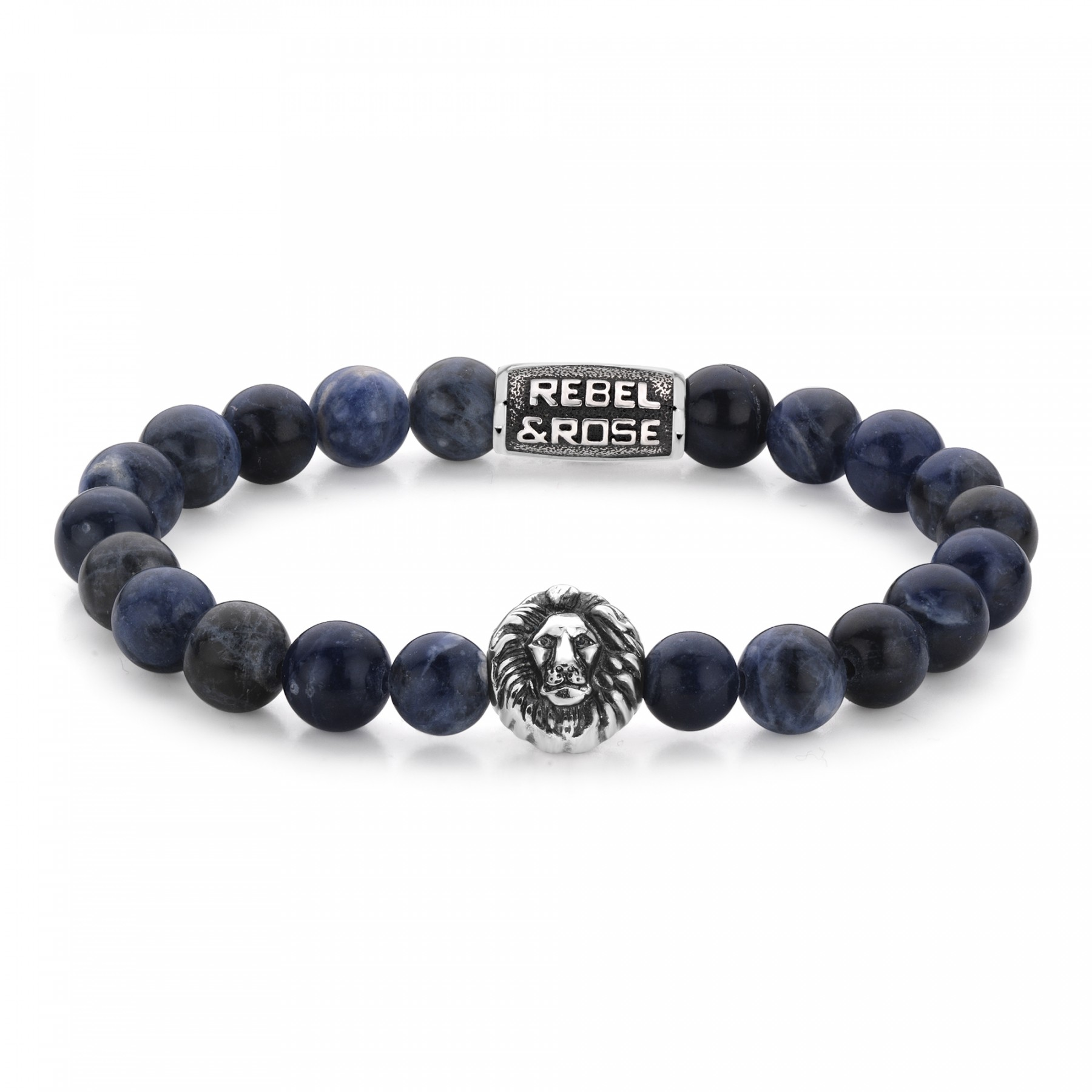 Rebel and Rose RR-8L030-S-XL Armband Midnight Blue XL 8mm 21.0