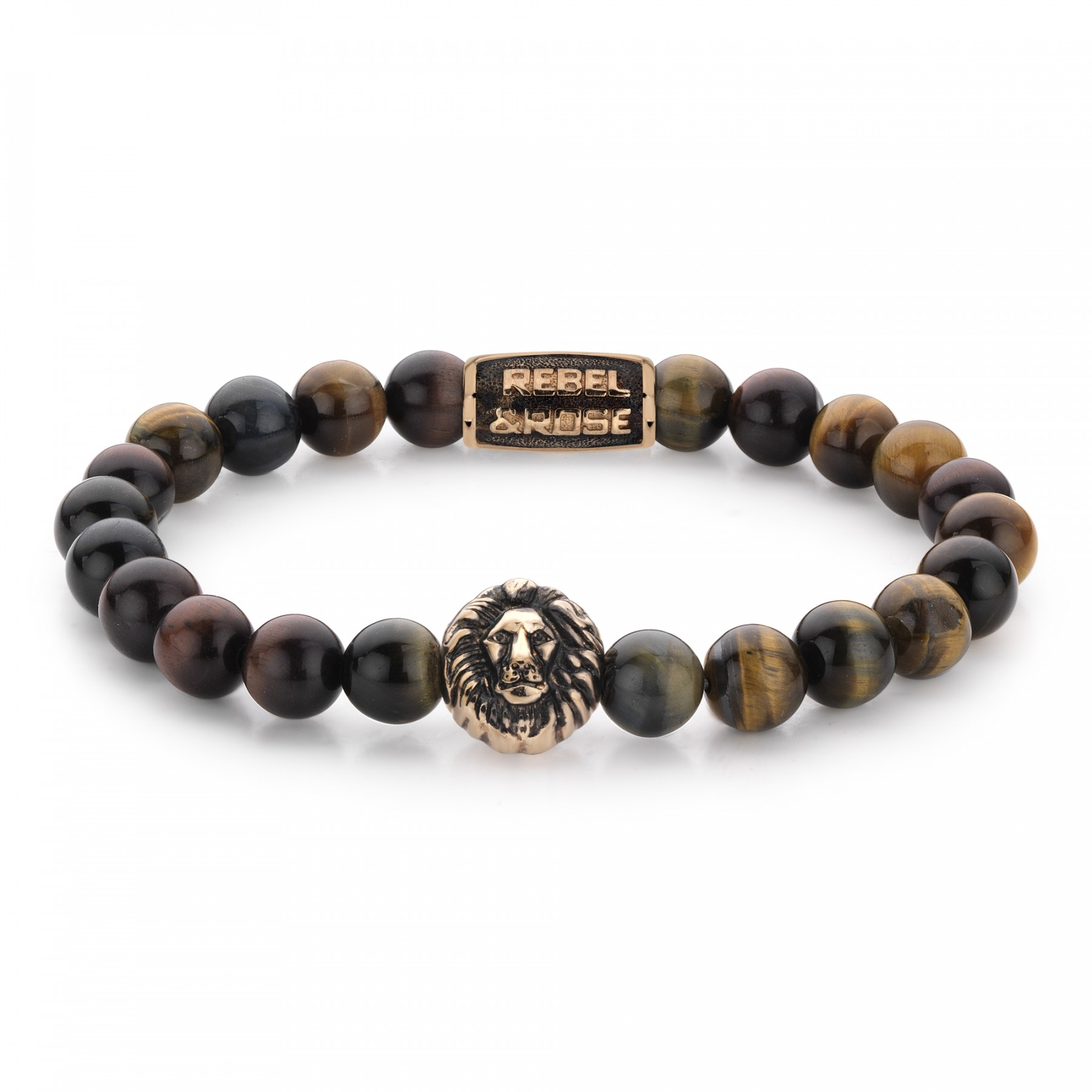 Rebel and Rose RR-8L032-R-M Armband Who's afraid of the Lion - rose gold plated M 8mm 17.5