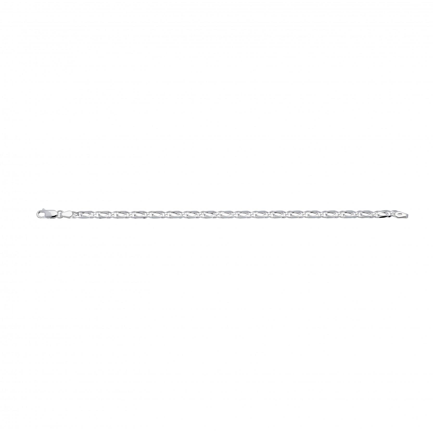 Zilveren schakelarmband best basics Valkenoog - 4.2mm - 19cm 104.0145.19