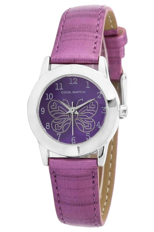 Coolwatch kinderhorloge Butterfly paars CW.185