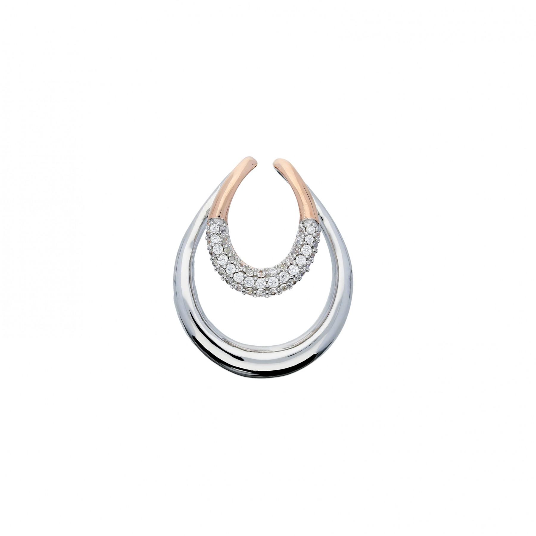 Elegance Zilveren Hanger bicolor gerhodineerd zirkonia 120.5412.00