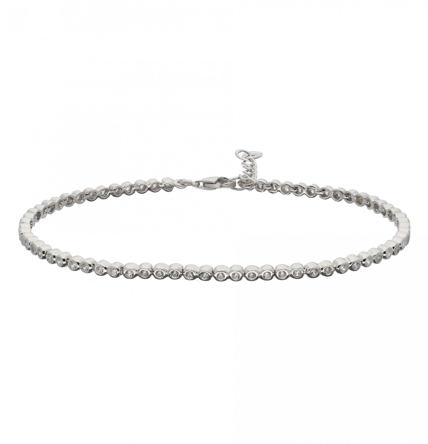 Zilveren tennisarmband Gerodineerd - zirkonia 2.5 mm - 18+2.5cm 104.2030.20
