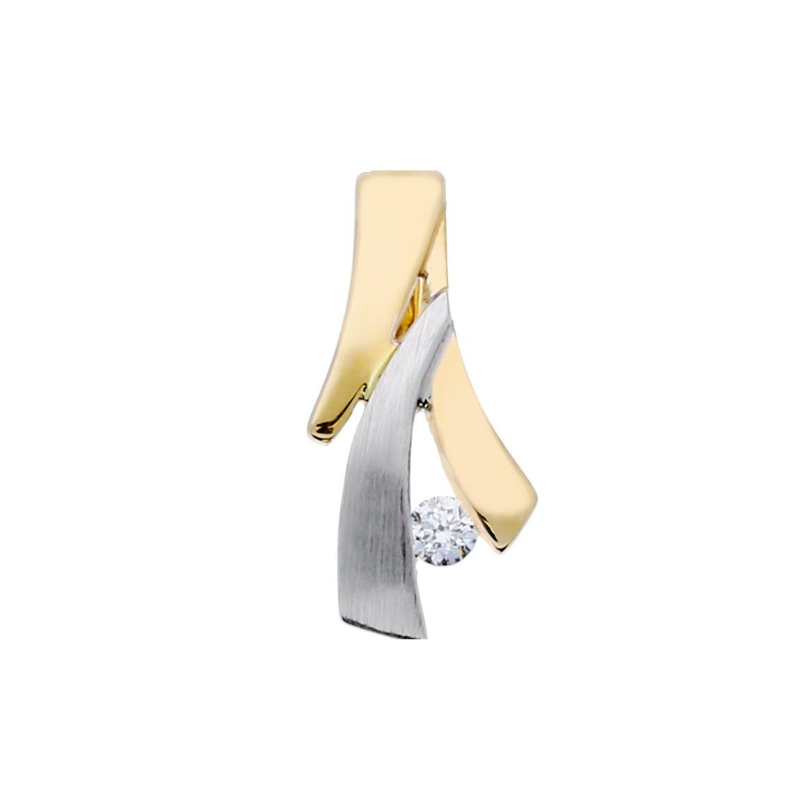 Glow Gouden Hanger - Mat Glanzend Diamant 0.04ct. Gh/si3 220.5251.00