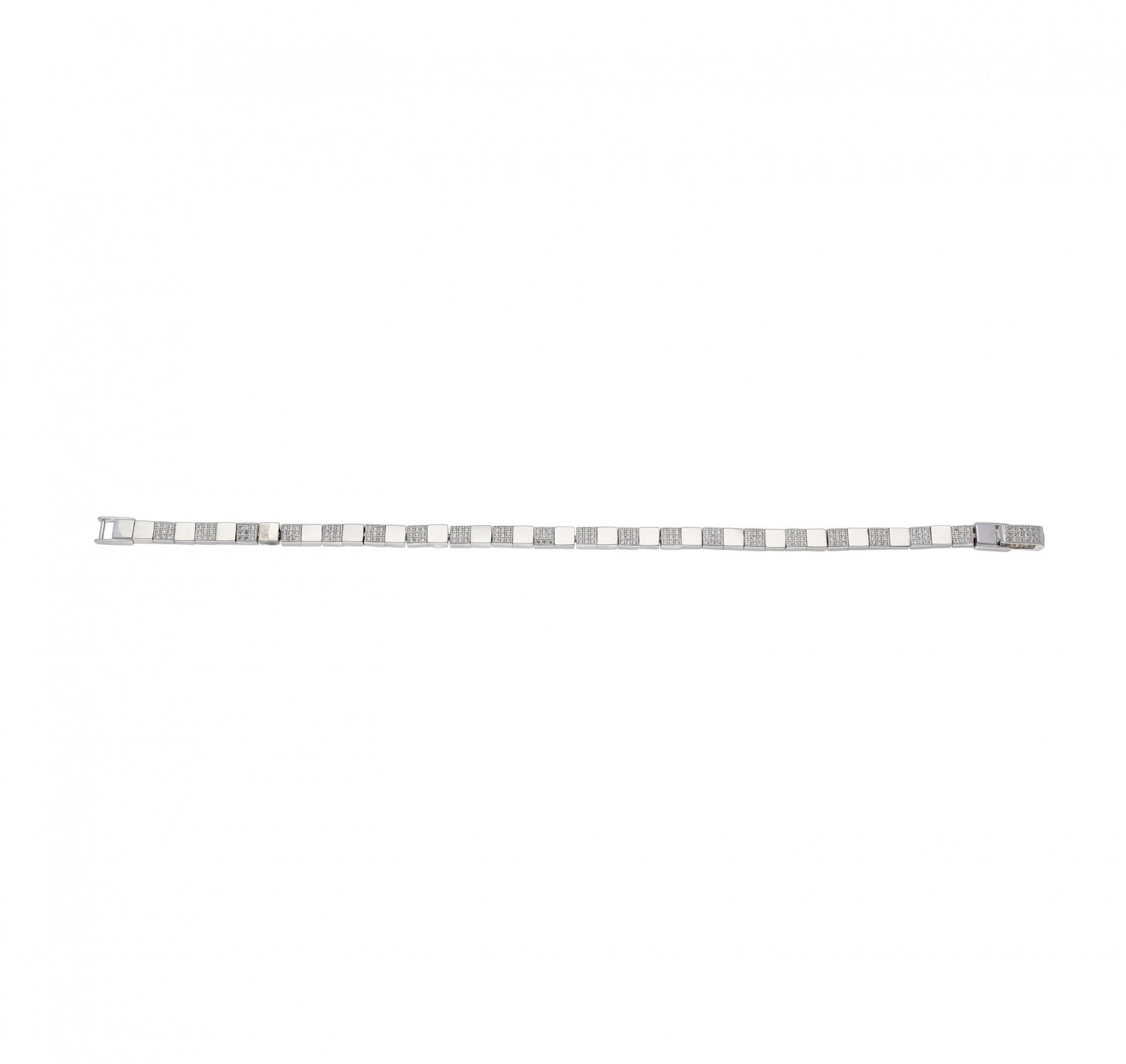 Classics Zilveren Tennisarmband Zirkonia 18.5 cm 4 mm Gerhodineerd 104.2038.18