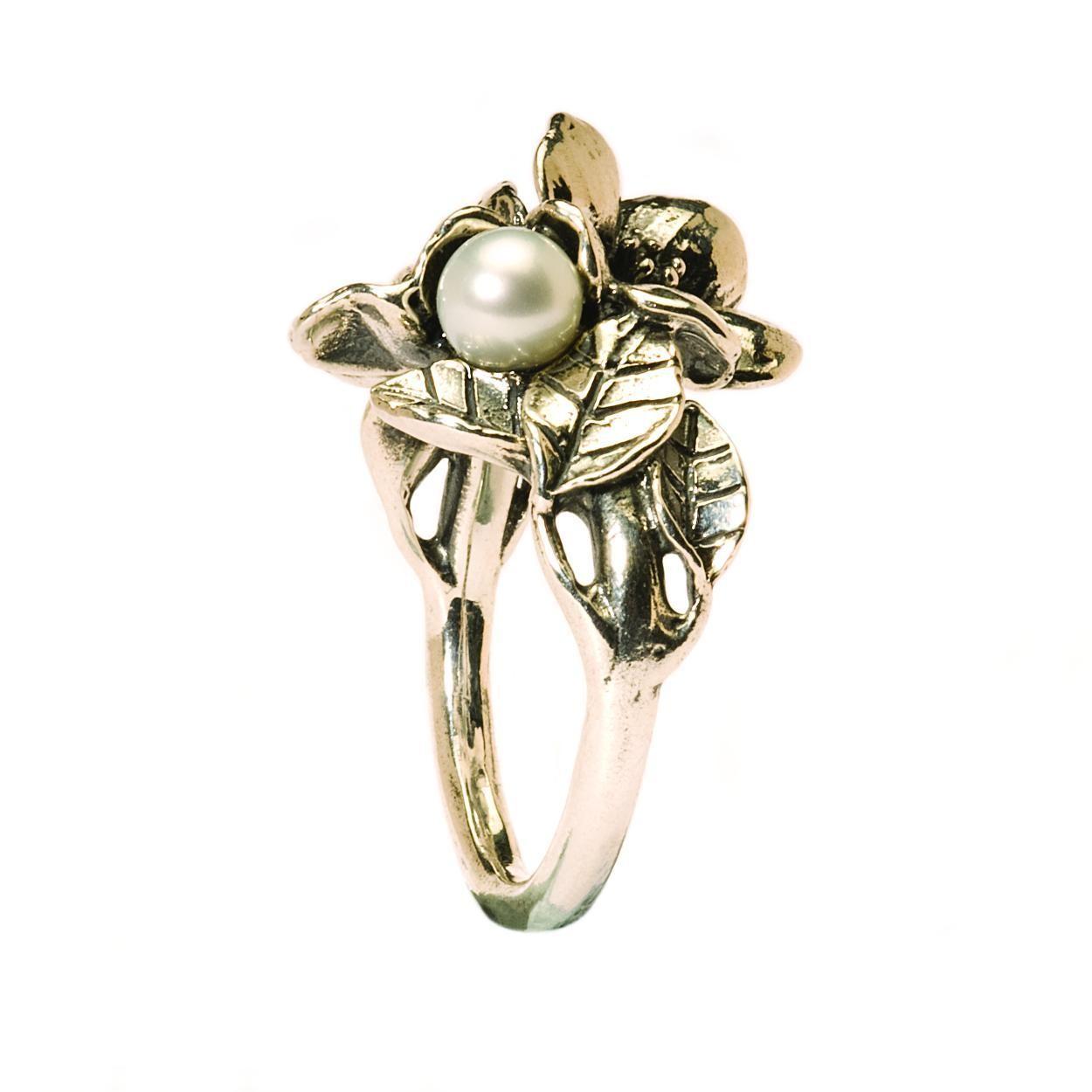 Trollbeads TAGRI-00221 Ring Hagendoorn zilver met parel