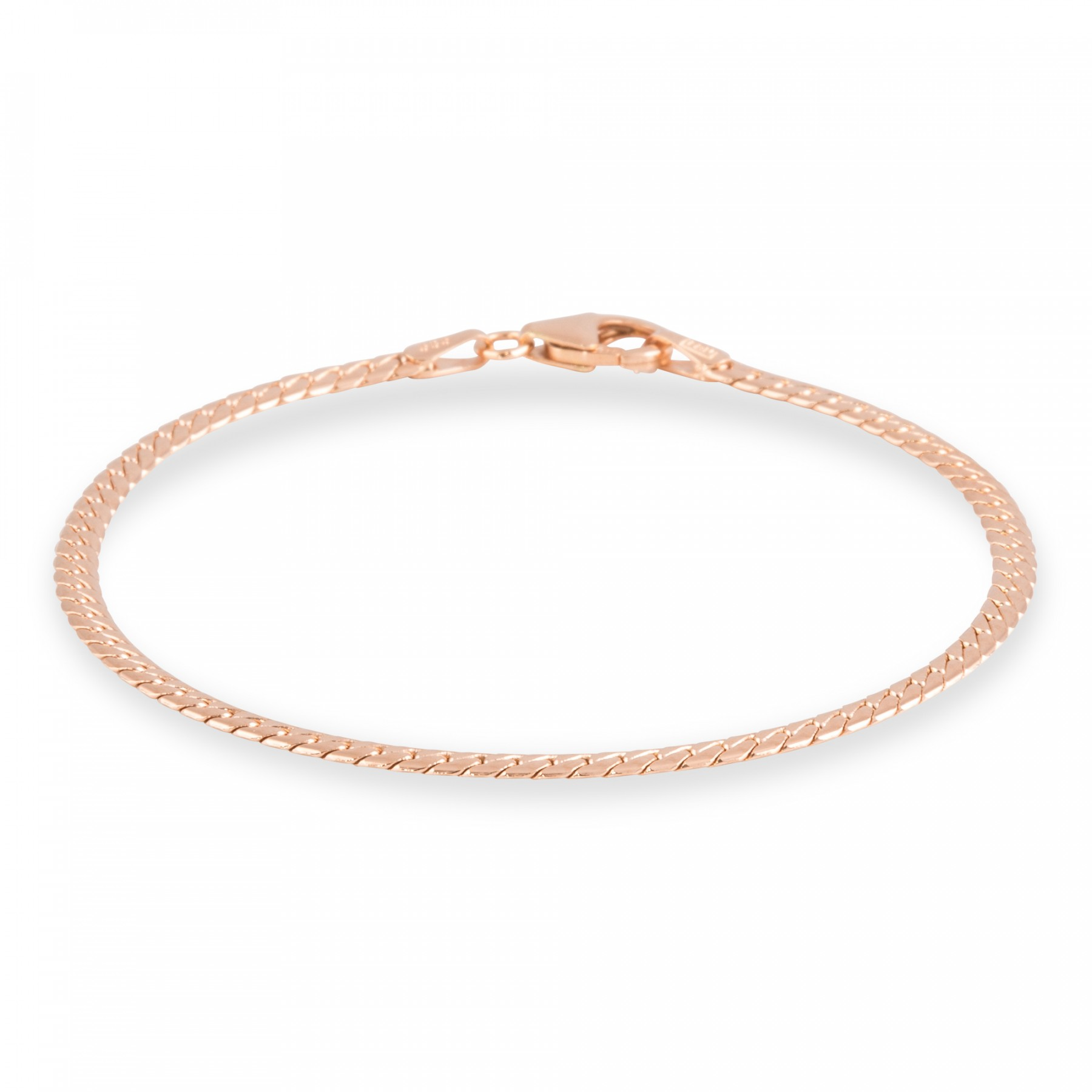 Roségouden schakelarmband gold collection 19 cm - herringbone - 2.9 mm breed 204.4002.19