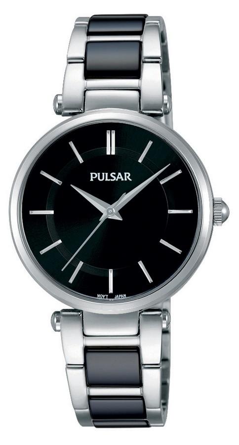 Pulsar Dameshorloge Keramiek & Zwarte wijzerplaat PH8193X1