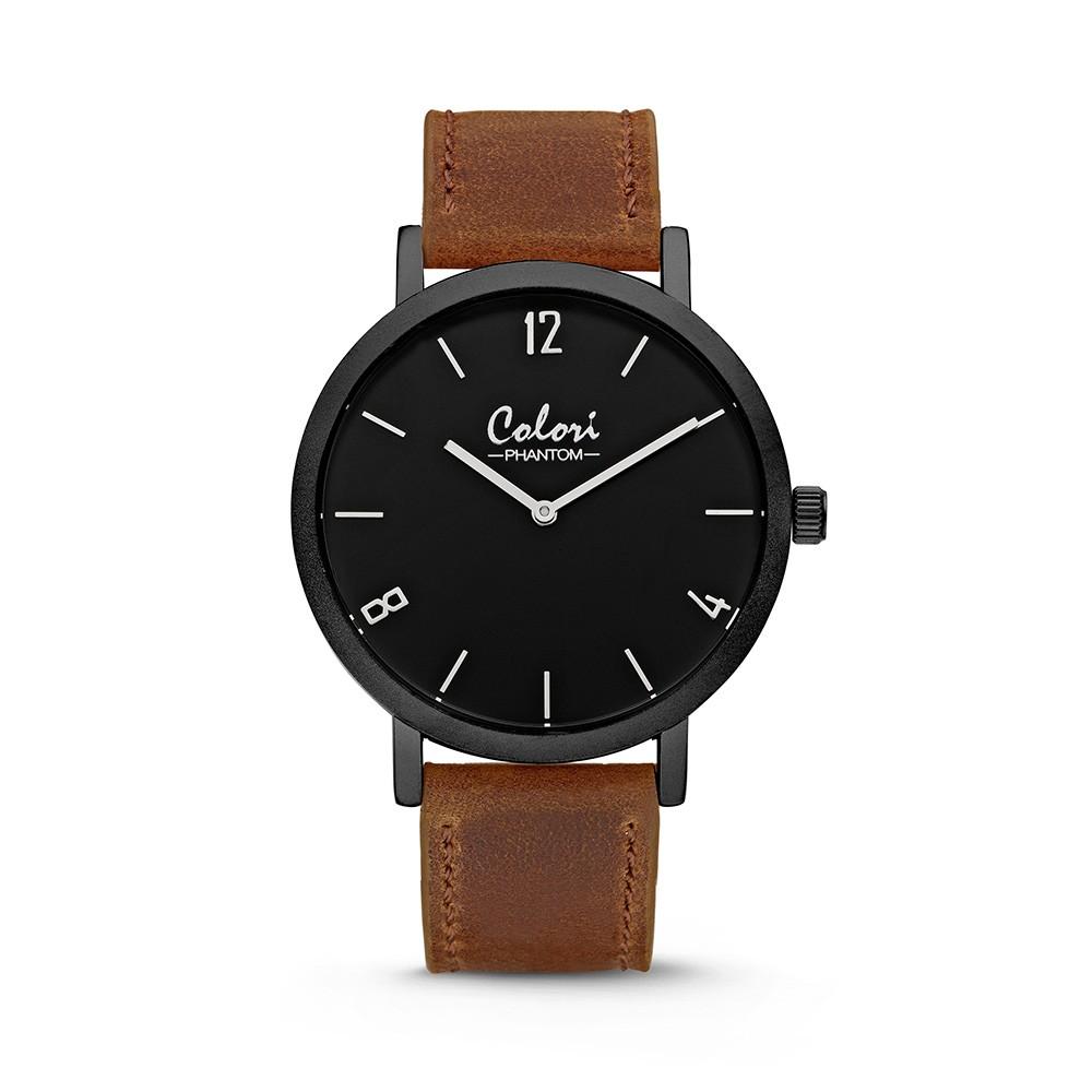 Colori - Phantom - 5-COL441 - Horloge - leren band - bruin - 42 mm