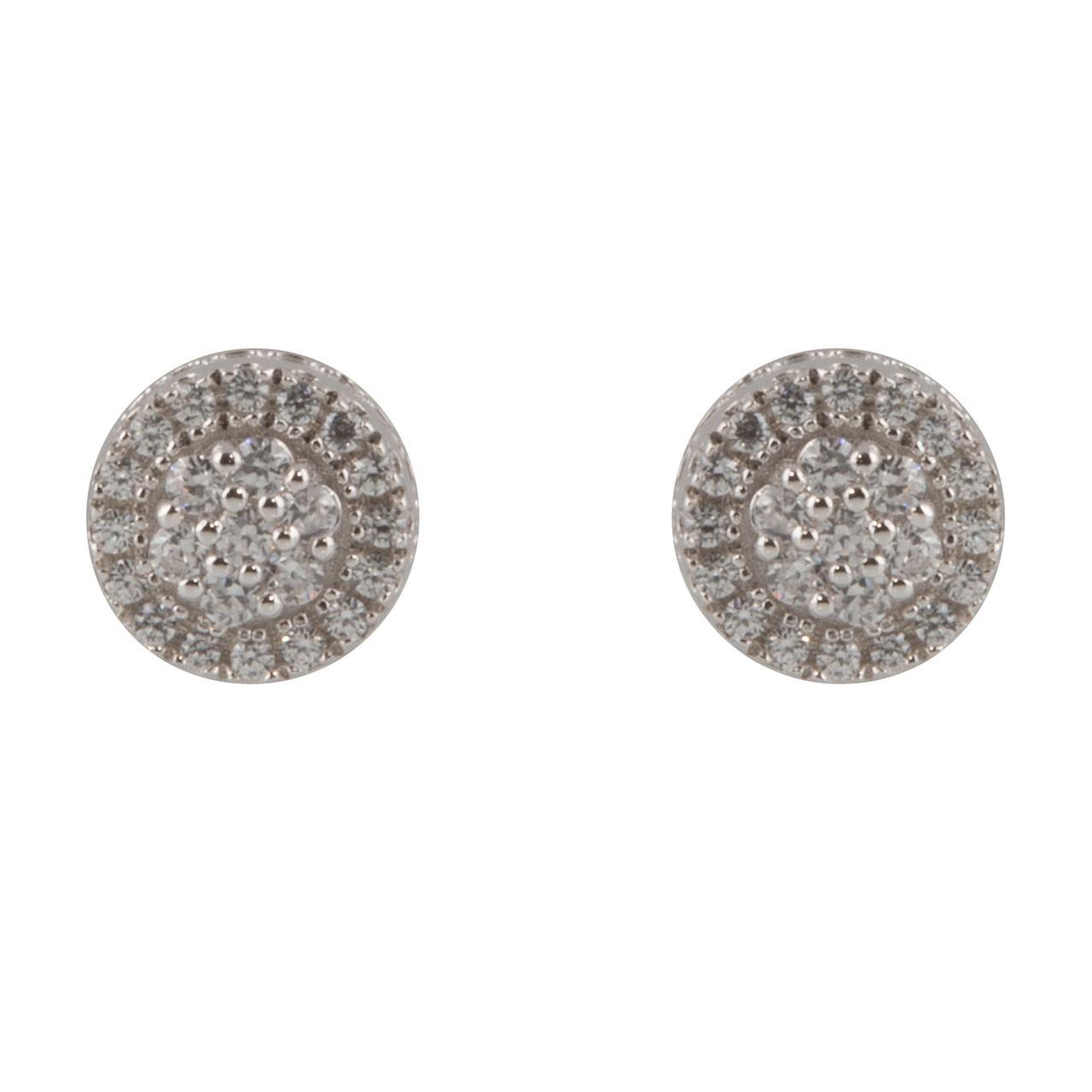 Oorbellen 106.0481.00 zilver met zirconia 6,5 mm