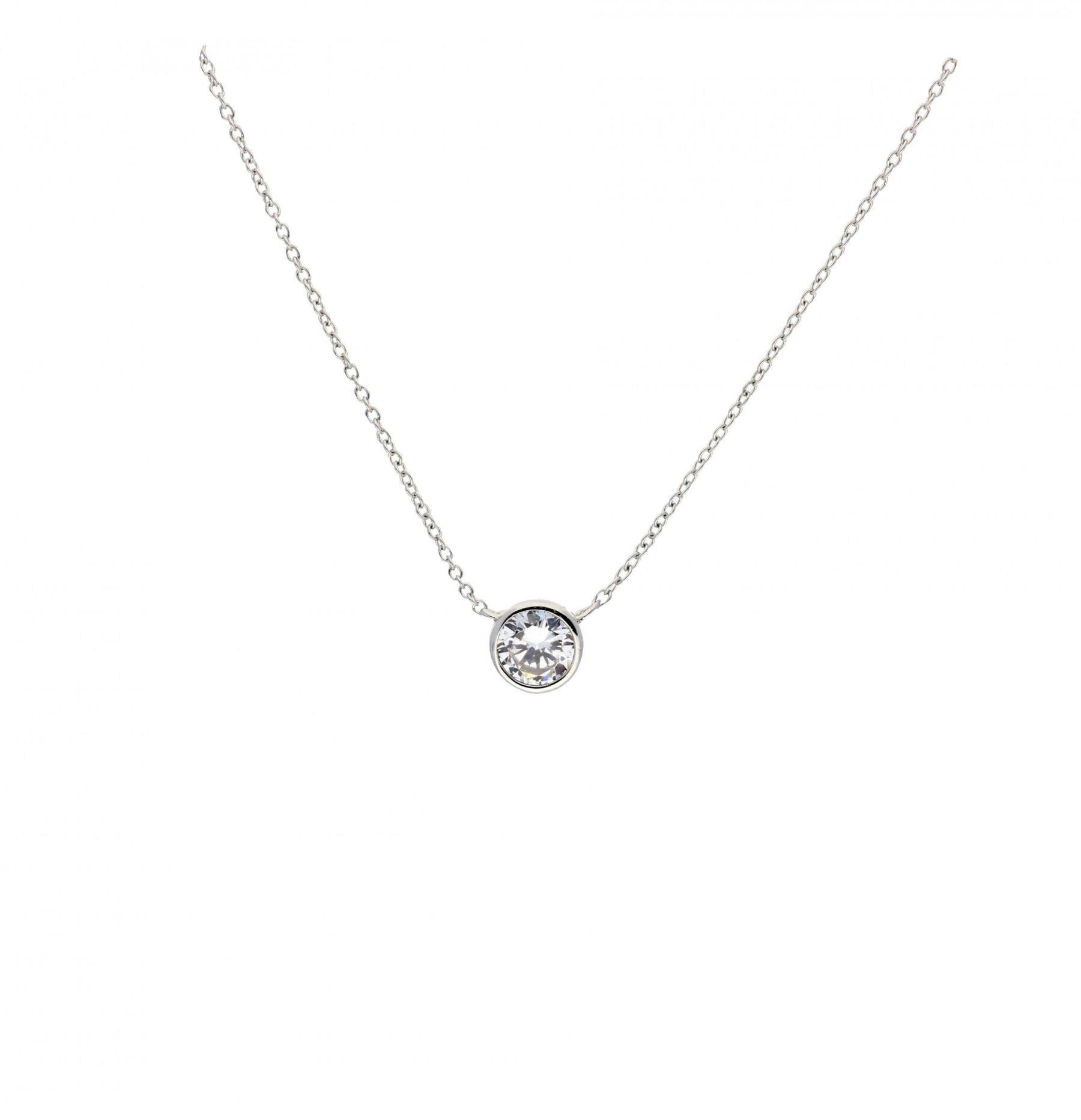 Diamonfire Zilveren Hanger Inclusief Collier Carat - 1.00ct Kastzetting 45cm 803.0398.45