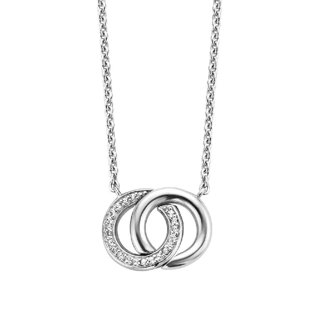 Ti Sento - Milano 3822ZI Ketting zilver met zirconia 48 cm