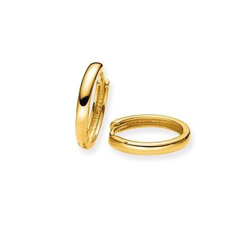Glow Gouden Oorbellen Klapcreolen 14 x 2.0 mm 207.5081.14