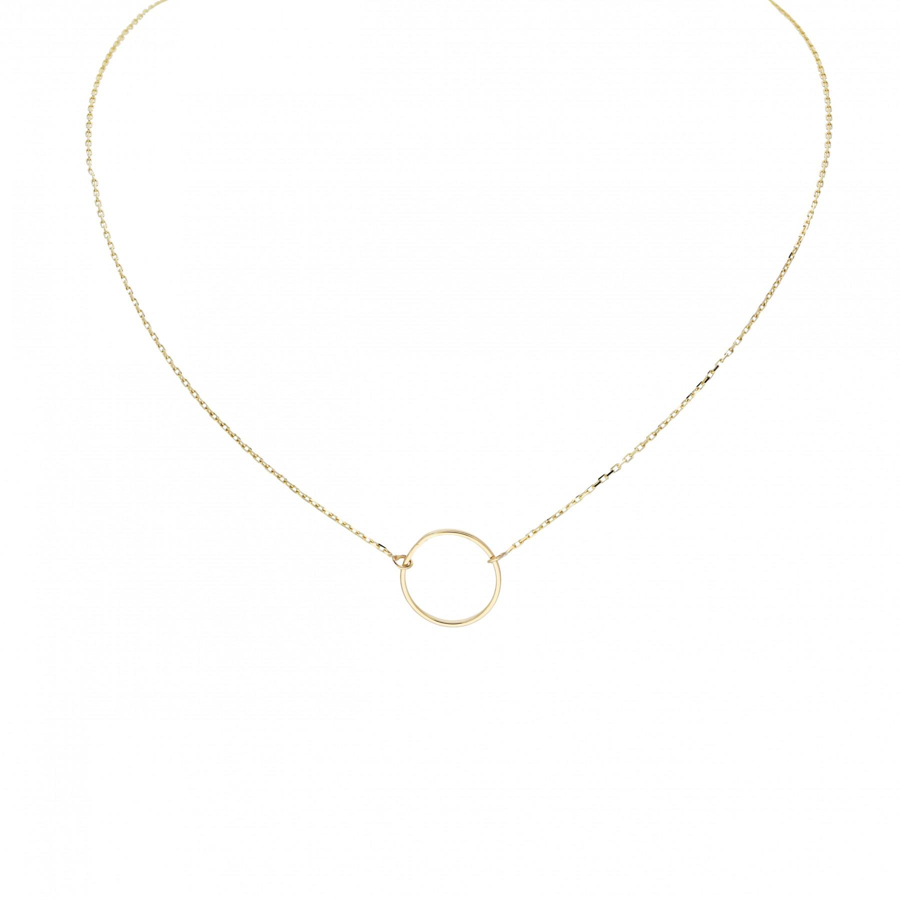 Glow Gouden Collier Met Hanger - Rondje 42+3cm 202.2050.45