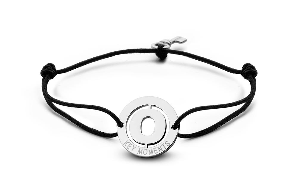 Key Moments 8KM-A00015 Armband met stalen letter O en sleutel one-size zilverkleurig