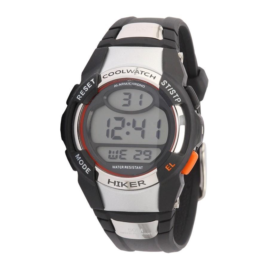 Coolwatch kinderhorloge 'Hiker' digitaal zwart CW.193