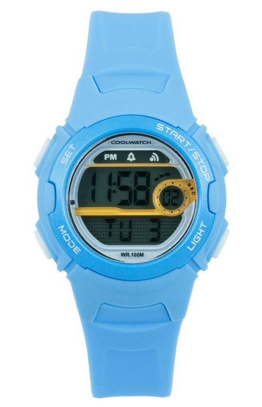 Coolwatch CW.345 Kinderhorloge Skills Digitaal lichtblauw 34 mm