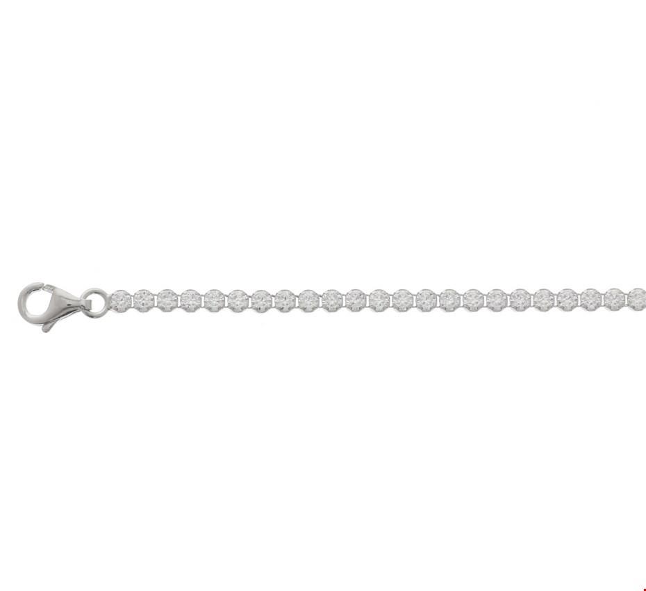 Tennisarmband Zilver Zirkonia 2,5 mm 18 cm