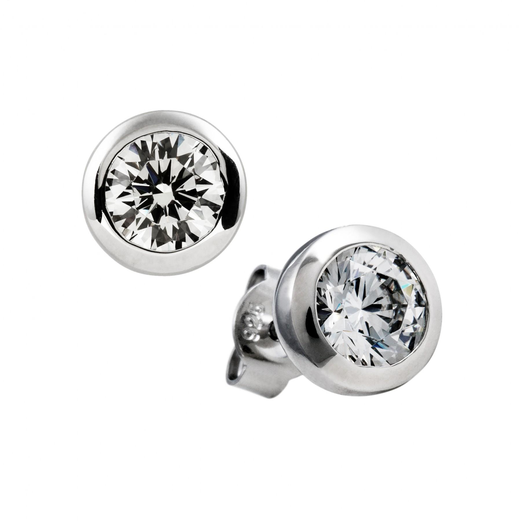 Diamonfire Zilveren Solitair Oorknoppen - 1.00 Ct 6.25 Mm Kastzetting 806.0843.00