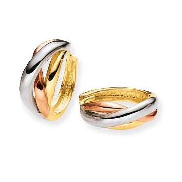 Glow Gouden Oorbellen Klapcreolen Gevlochten 13,5 mm 207.6020.00