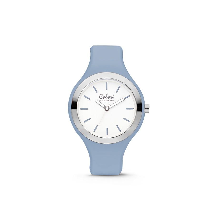 Colori Macaron 5-COL511 - Horloge - siliconen band - licht blauw - 30 mm