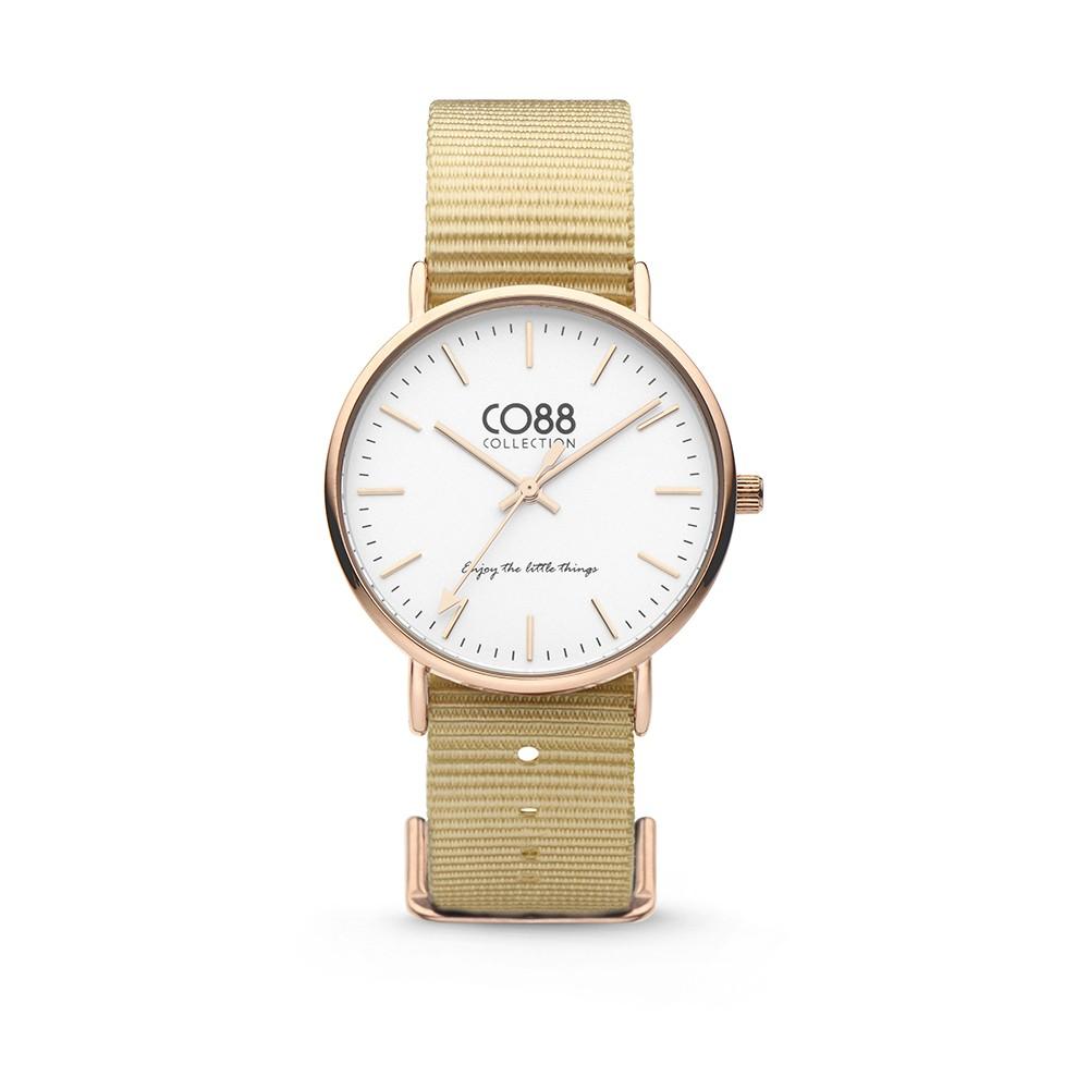 CO88 Collection 8CW-10021 - Horloge - Nato nylon - zandkleurig - 36 mm