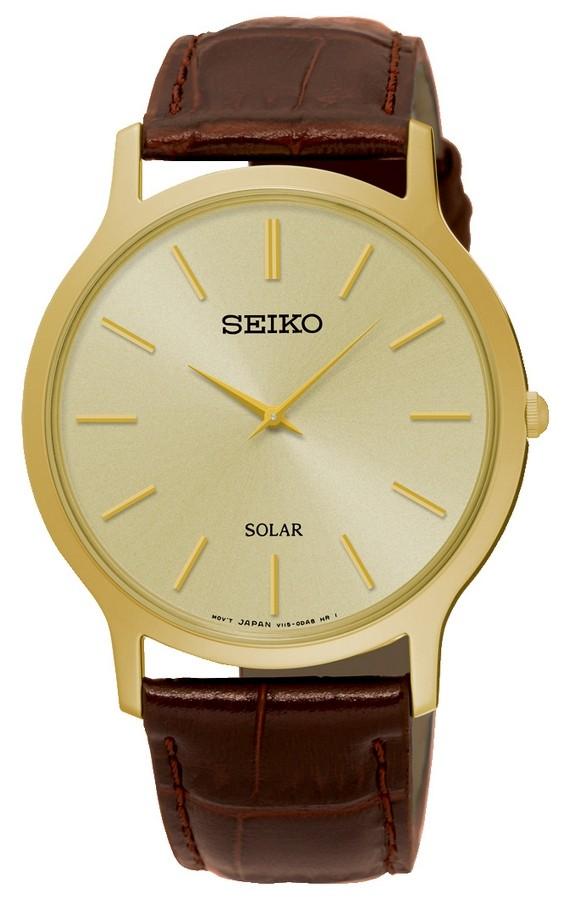 Seiko Herenhorloge Solar Goudkleurig SUP870P1