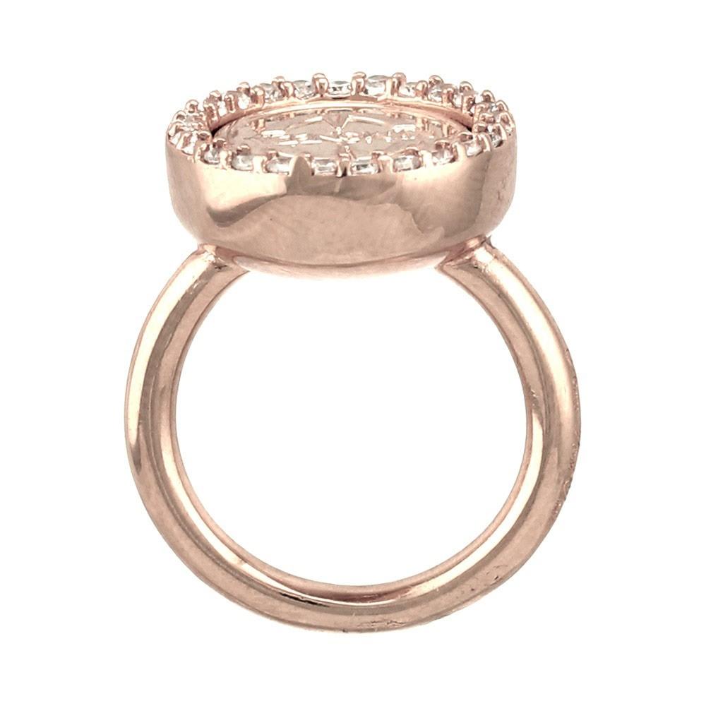 Mi Moneda RIN-DOL-LU-03 Ring la Dolce Vita Deluxe rosekleurig