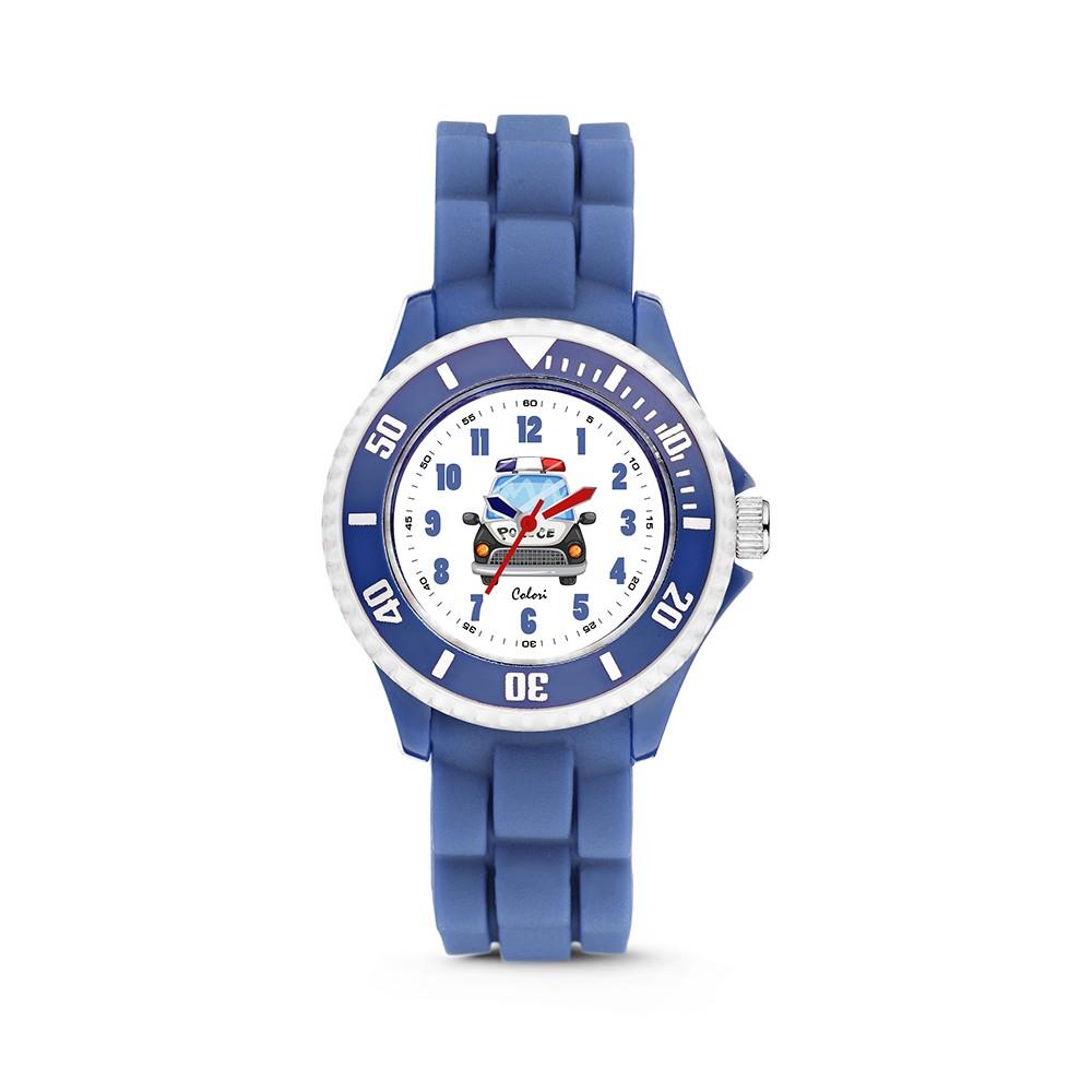 Colori Kidz 5-CLK086 - Kinderhorloge - silicoon - blauw - ø 30 mm