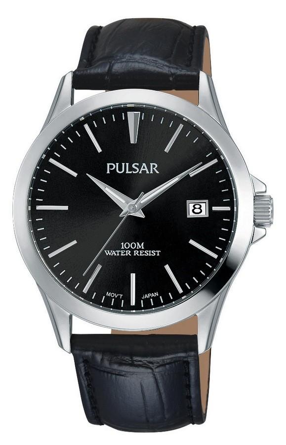 Pulsar Herenhorloge Zwarte leren band PS9457X1