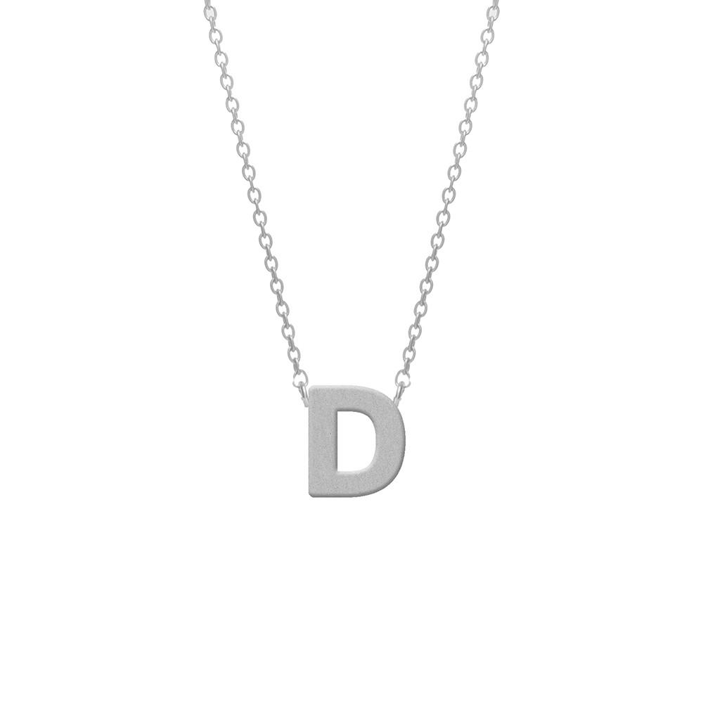 CO88 Collection 8CN-11003 - Stalen collier - letterhanger D 9 mm - lengte 42+5 cm - zilverkleurig