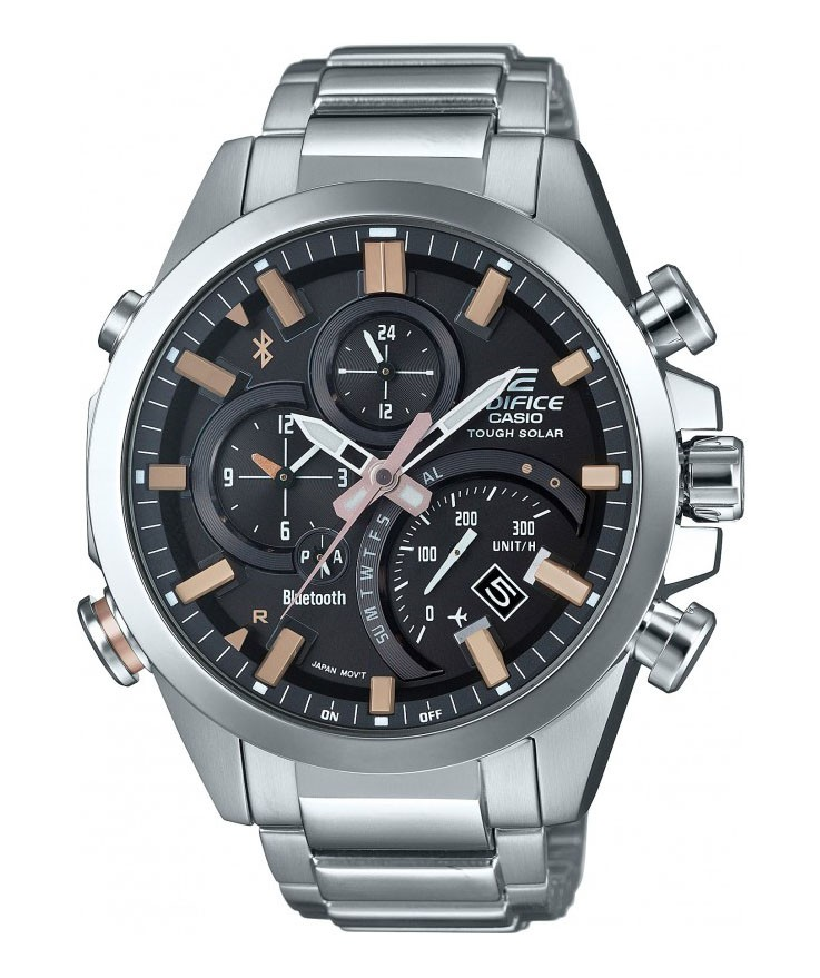 Casio Edifice Chronograaf, Solar Bluetooth 4.0 EQB-500D-1A2ER