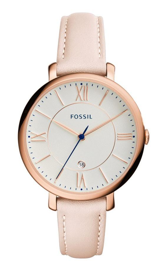 Fossil Dameshorloge Jacqueline rosékleur & roze band ES3988