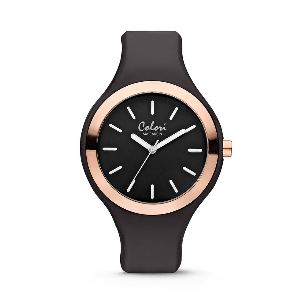 Colori Macaron 5-COL487 - Horloge - siliconen band - zwart - 30 mm