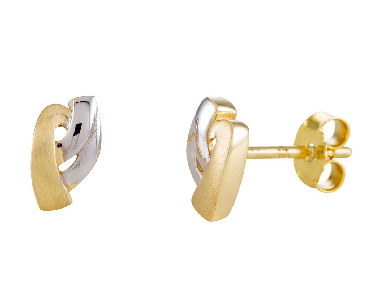 Glow Gouden Oorbellen bicolor 206.0390.00