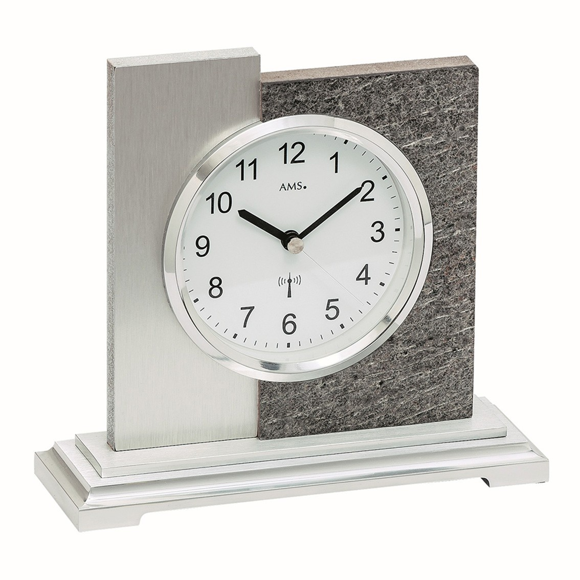 AMS 5150 Tafelklok zendergestuurd Natuursteen-Aluminium