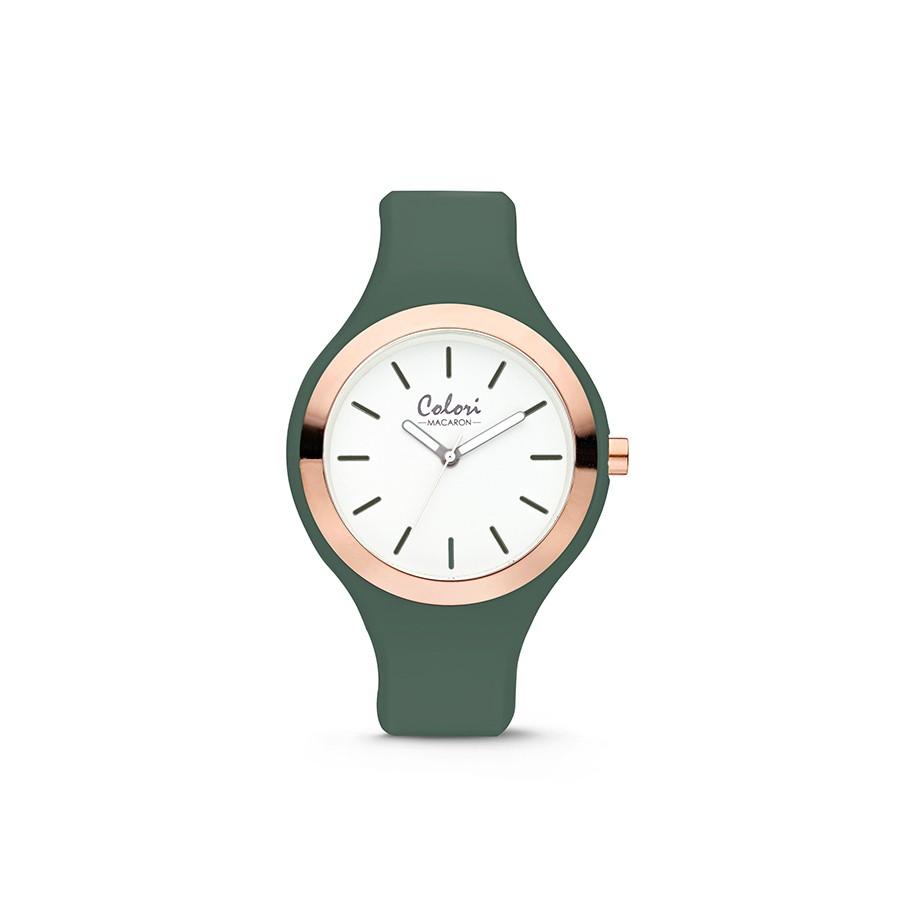 Colori Macaron 5-COL510 - Horloge - siliconen band - groen - 30 mm
