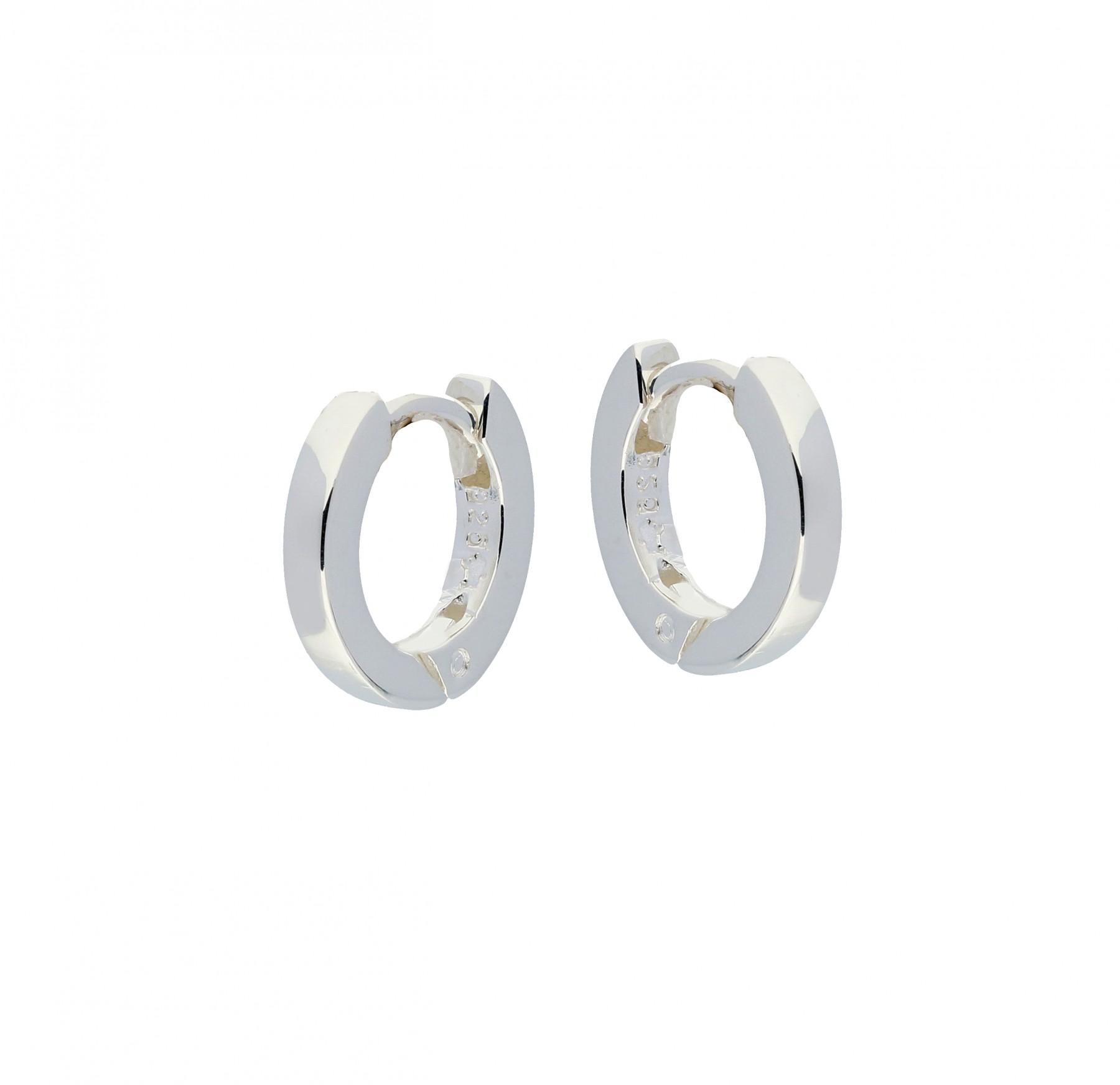 Zilveren klapcreolen - vierkante buis 2 mm  107.0072.12