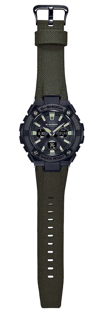 Casio G-Shock Steel and Leather GST-W130BC-1A3ER