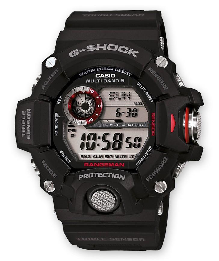 Casio G-Shock GW-9400-1ER 'Gravity Master' Zendergestuurd met Kompas 54 mm