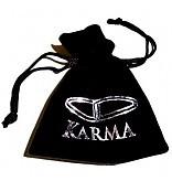 Karma Armband 'Black Horse silver round logo bead' 86346
