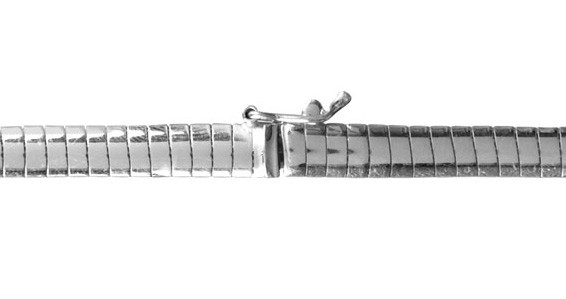 FirstChoice FCCUB4 Ketting zilver Omega 4,0 mm 21,4 gram 45 cm