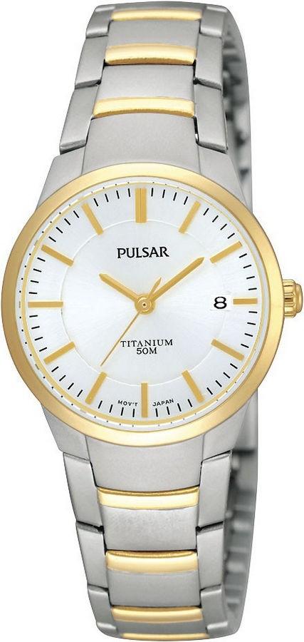 Pulsar Dameshorloge titanium Bicolor PH7128X1