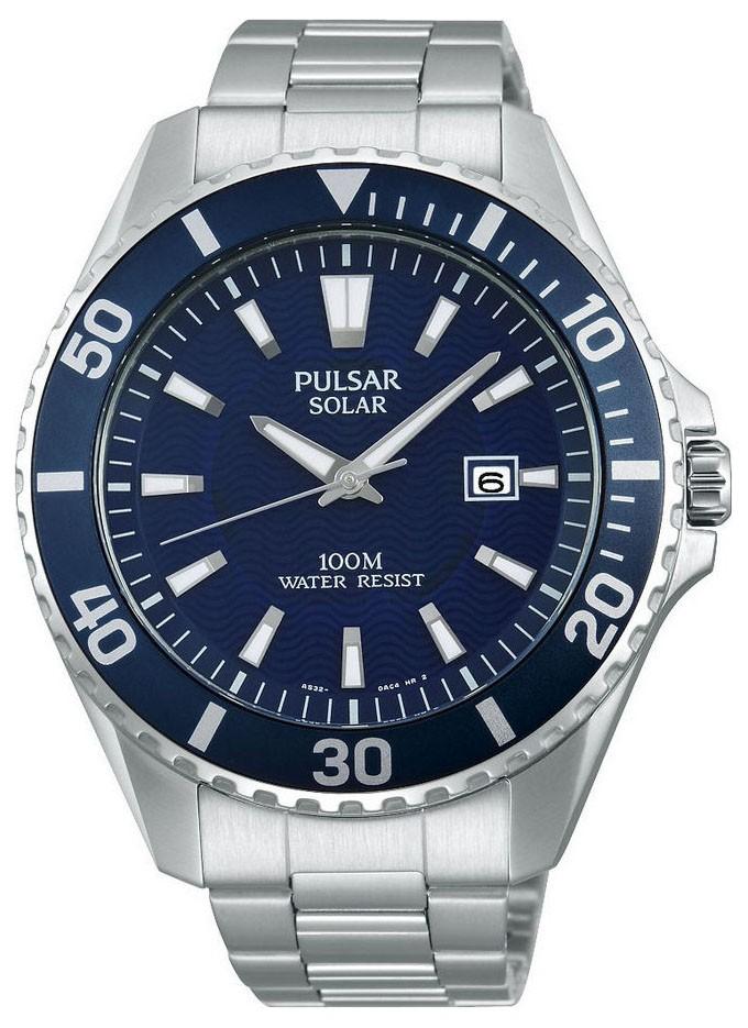 Pulsar PX3033X1 Herenhorloge Solar en Beschermde kroon 44 mm