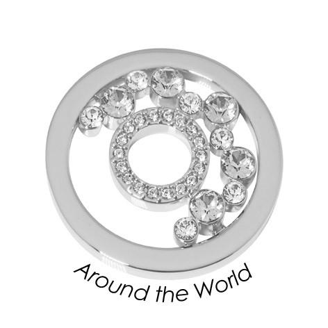 Quoins Disk Around the World staal zilverkleurig Medium QMOK-33M-E-CC