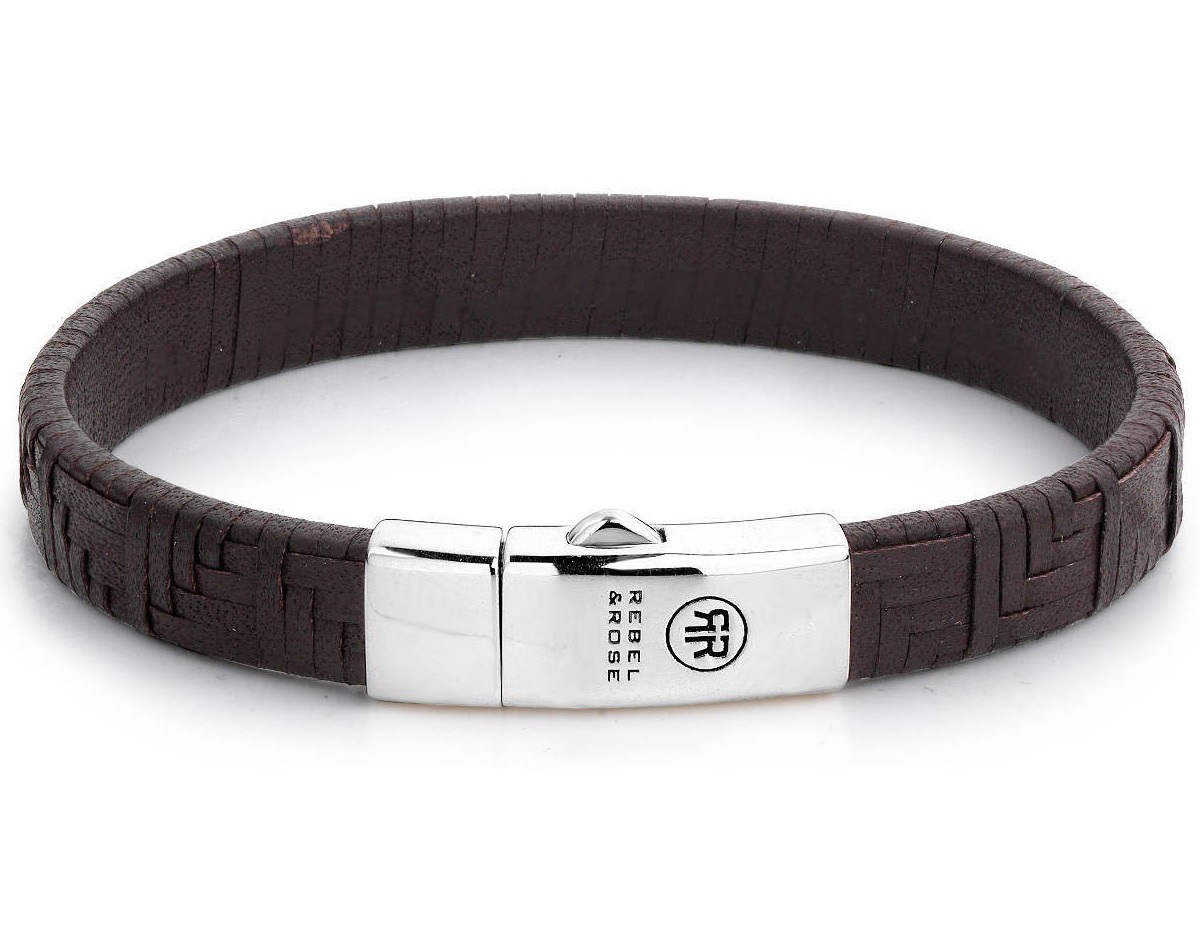 Rebel and Rose Armband Woven Stacked Earth 21 cm RR-L0054-S